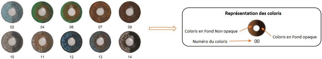 choix couleurs lentilles prothétique